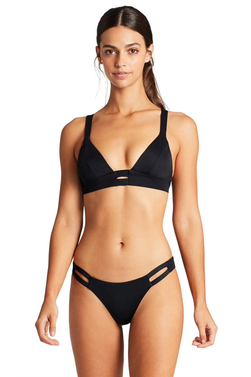 Vitamin A Black EcoLux™Neutra Bralette Top