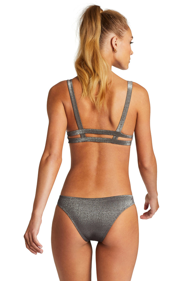 Vitamin A Graphite Metallic Neutra Bralette Top