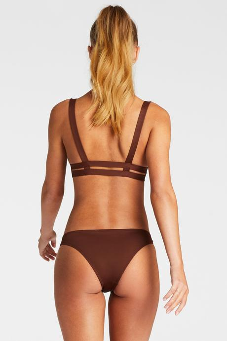 Vitamin A Vintage Brown Ecolux Neutra Bralette Top
