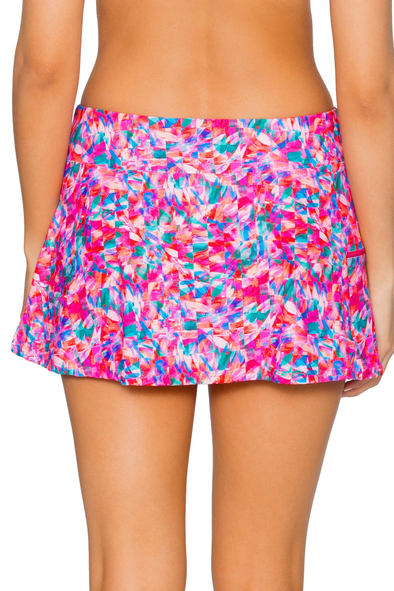 Sunsets Kaleidoscope Sporty Swim Skirt Bottom