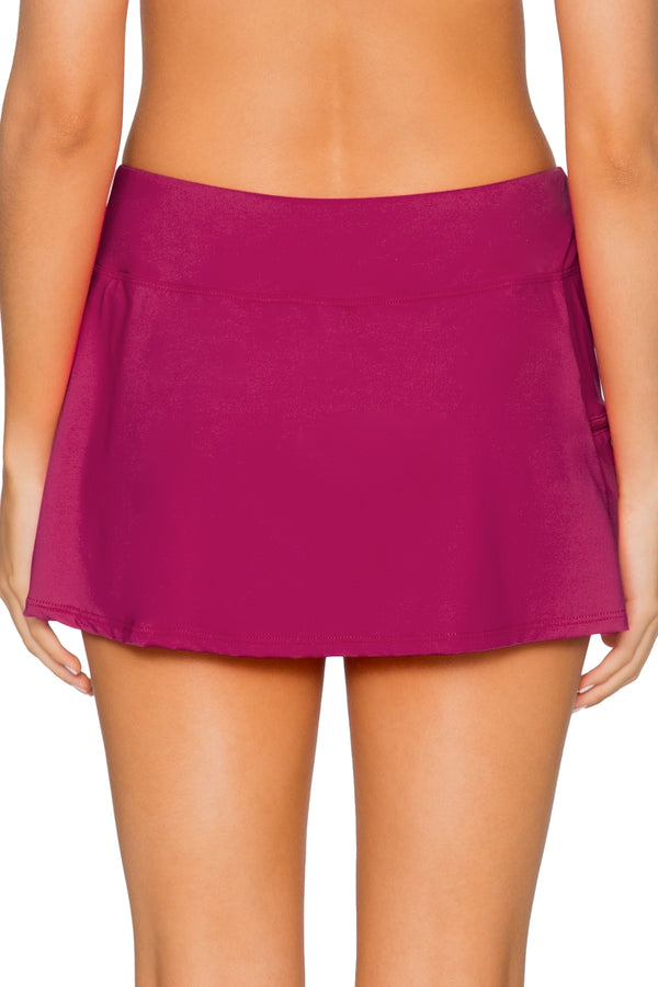 Sunsets Pink Poppy Sporty Swim Skirt Bottom