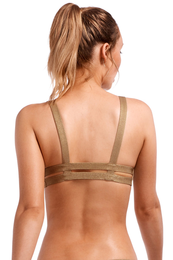 Vitamin A Bronze Metallic Neutra Bralette Top