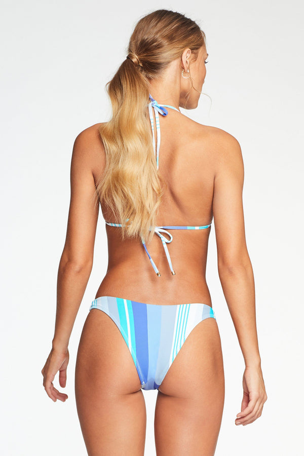 Vitamin A Aquazul Stripe California High Leg Bottom