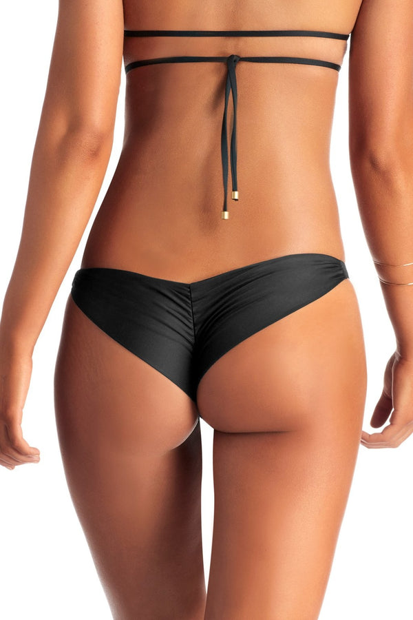 Vitamin A Black EcoLux™ Samba Ruched Bottom