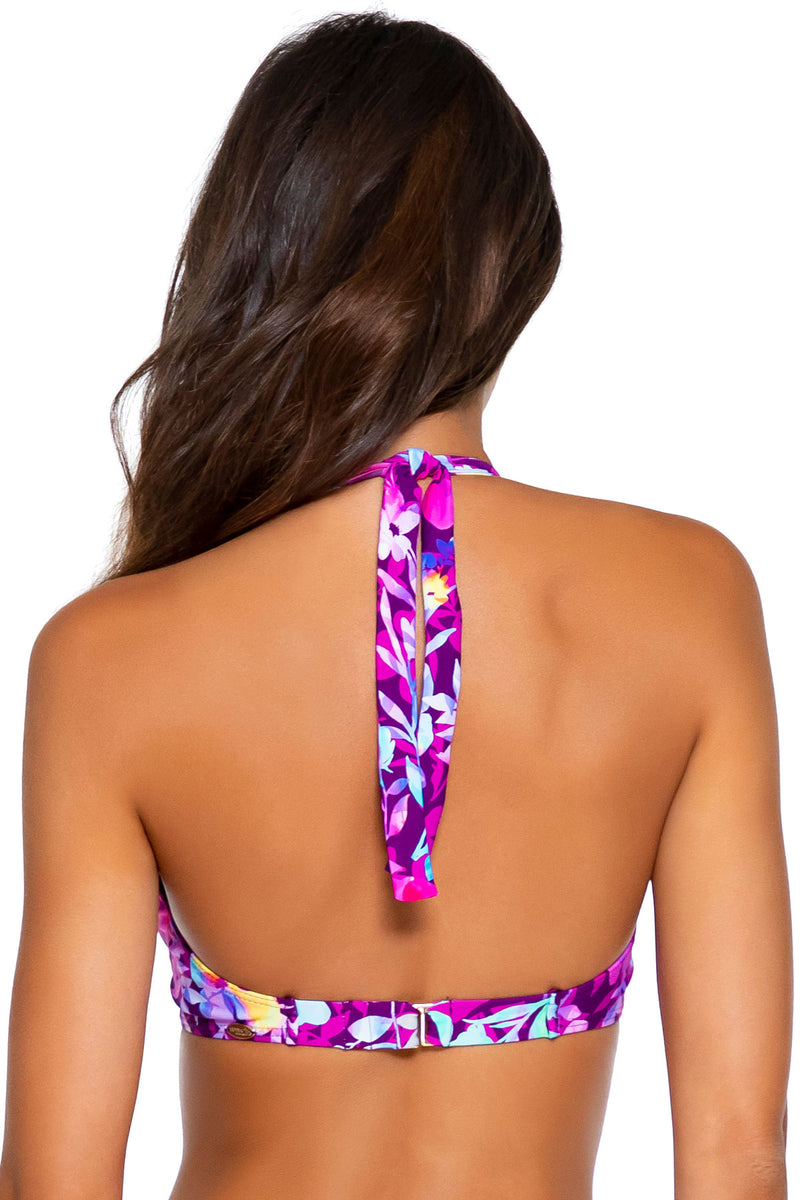Sunsets Evening Blooms Muse Halter D-H Cup Top