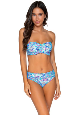 Sunsets Shore Bird Iconic Twist D-H Cup Bandeau Top