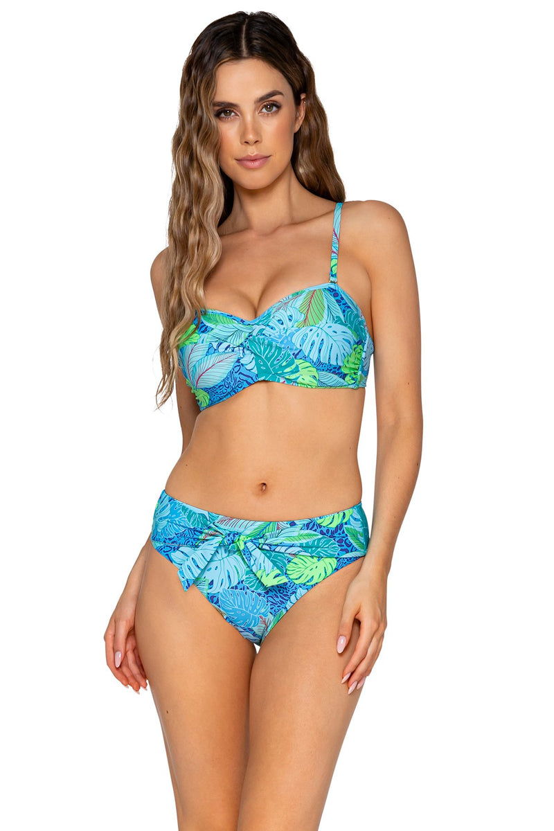 SUNSETS WILD PALMS ICONIC TWIST BANDEAU TOP