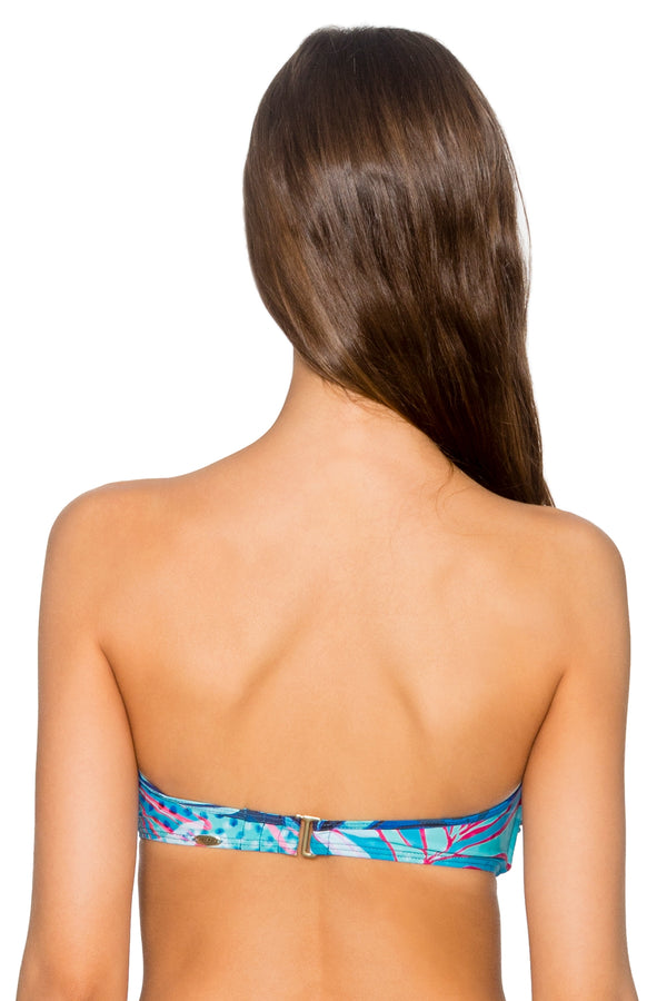 Sunsets Ocean Paradise Iconic Twist Underwire D-H Cup Bandeau Top