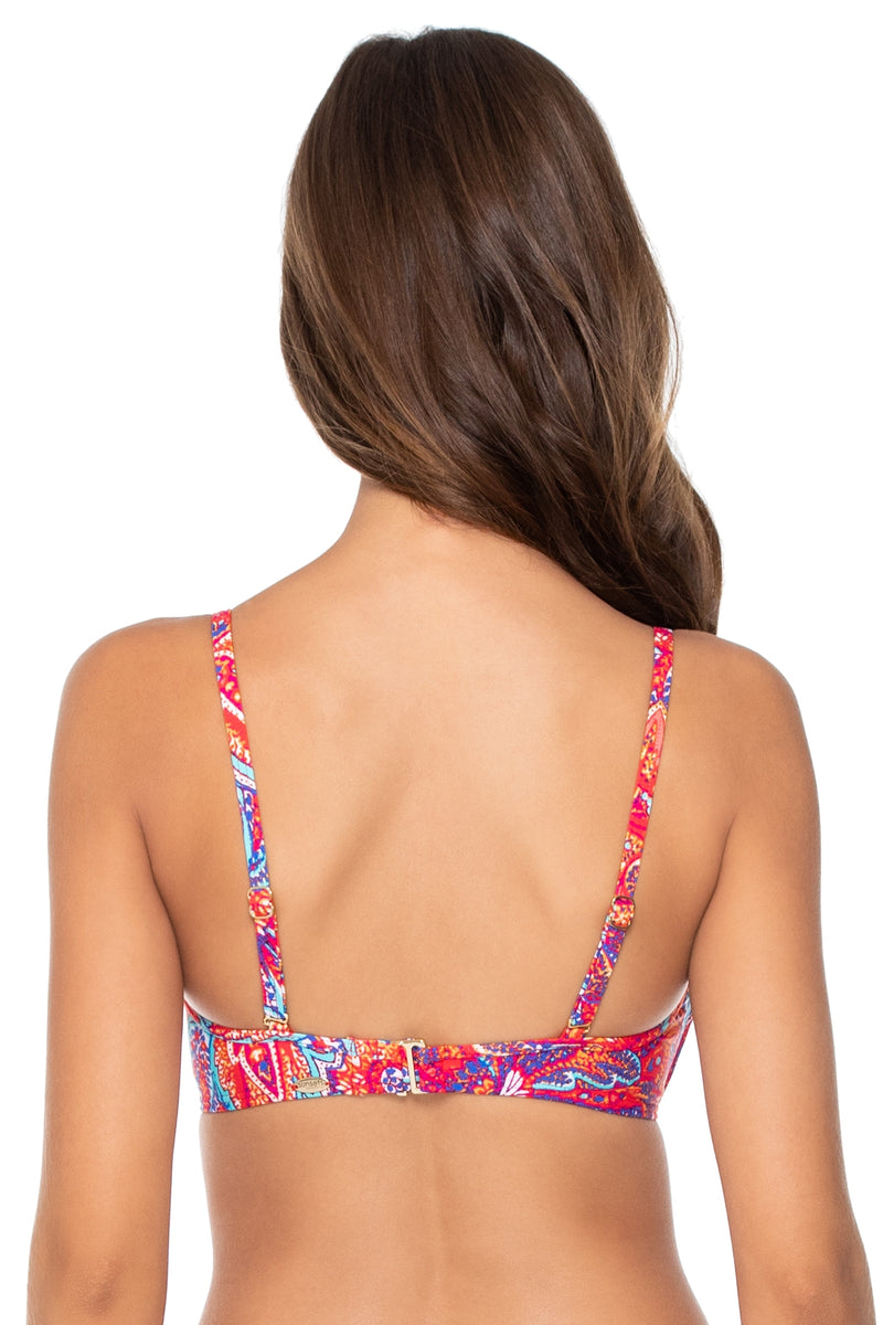 Sunsets Samba Iconic Twist Underwire D-H Cup Bandeau Top