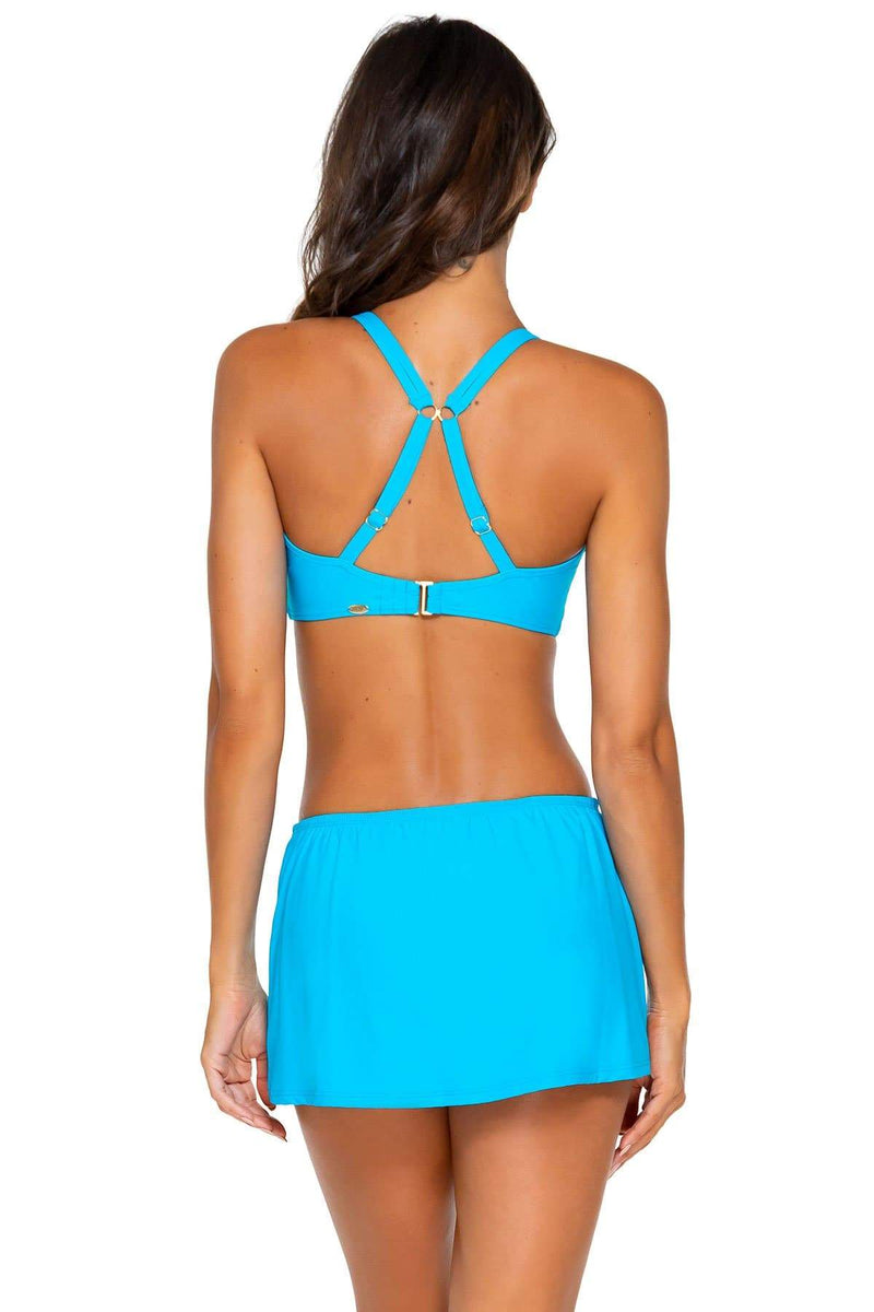 Sunsets Poolside Blue Kokomo Swim Skirt Bottom
