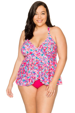 Curve By Sunsets Kaleidoscope Harper Fly-Away Tankini Top