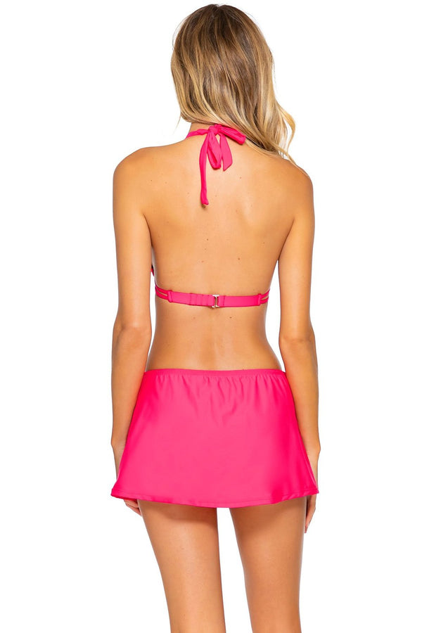 Sunsets Hot Pink Kokomo Swim Skirt Bottom