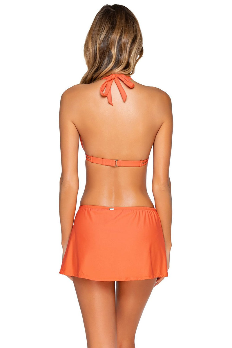 Sunset Tropical Coral Kokomo Swim Skirt Bottom