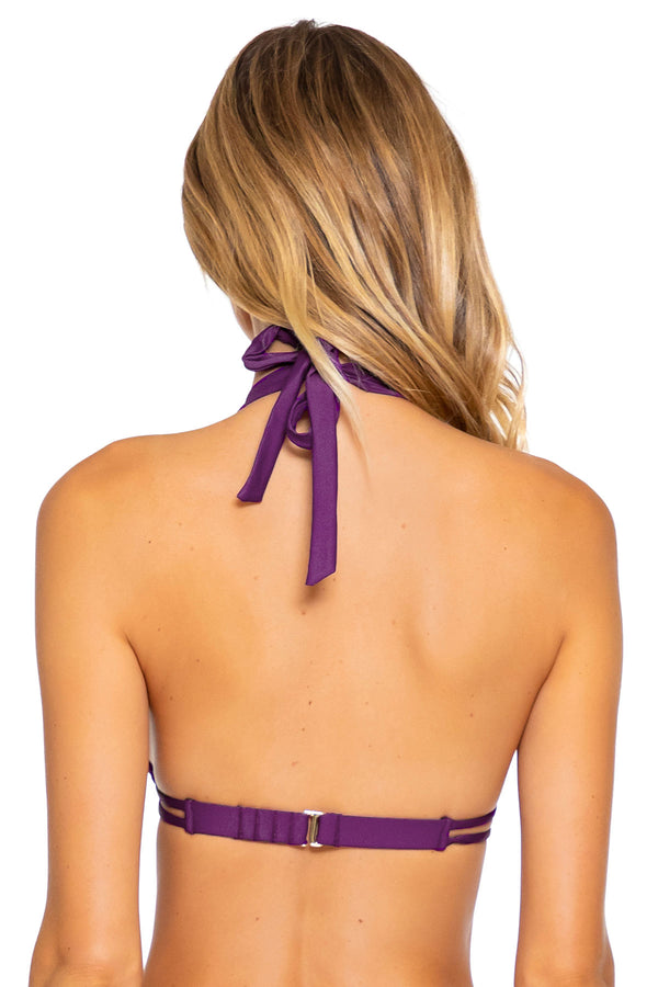 Sunsets Deep Plum Marilyn Halter Top