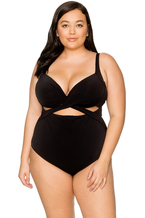 Curve By Sunsets Black Sasha Crossover One Piece