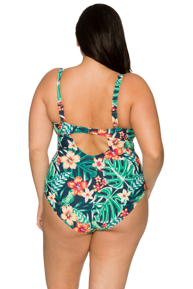 Curve By Sunsets Hibiscus Hideway Sasha Crossover One Piece