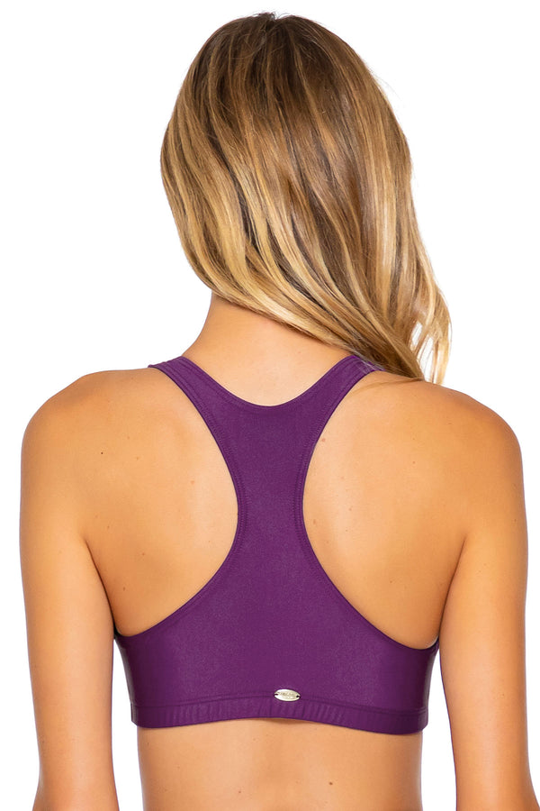 Sunsets Deep Plum Scuba Top