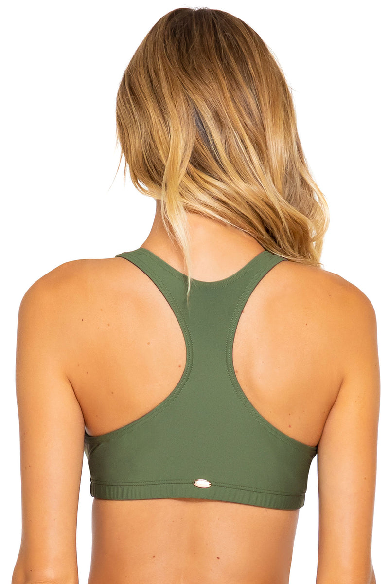 Sunsets Olive Scuba Top