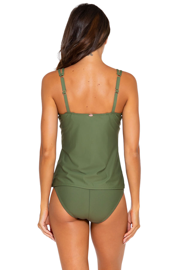 Sunsets Olive Taylor D-H Cup Tankini Top