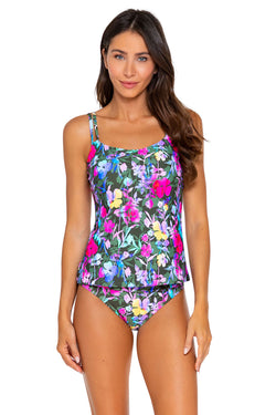 Sunsets Pansy Fields Taylor D-H Cup Tankini Top