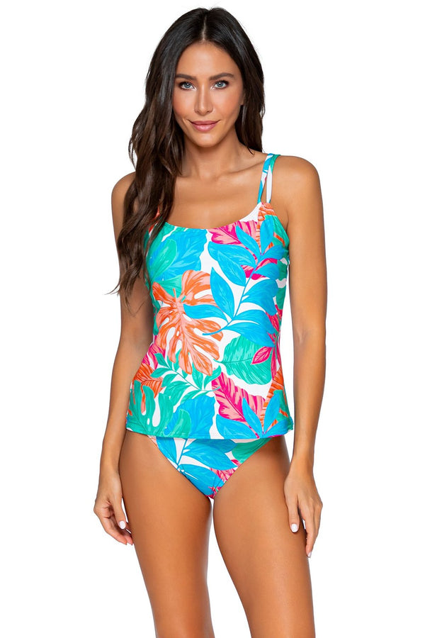 Sunsets Tropicalia Taylor Tankini D-H Cup Top