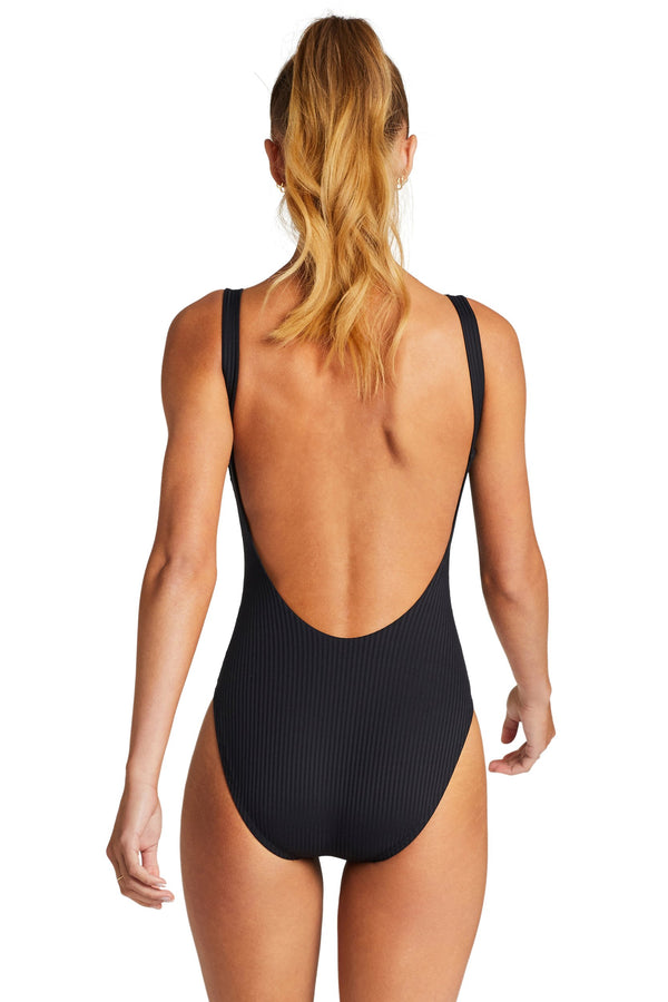 Vitamin A Black EcoRib™ Leah Full Bodysuit