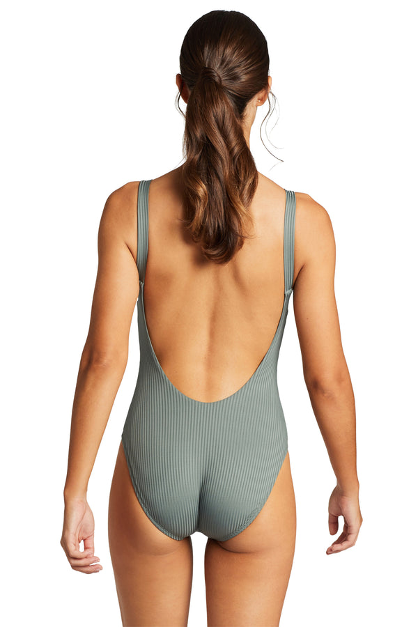 Vitamin A Sea Green EcoRib Leah Full Bodysuit One Piece