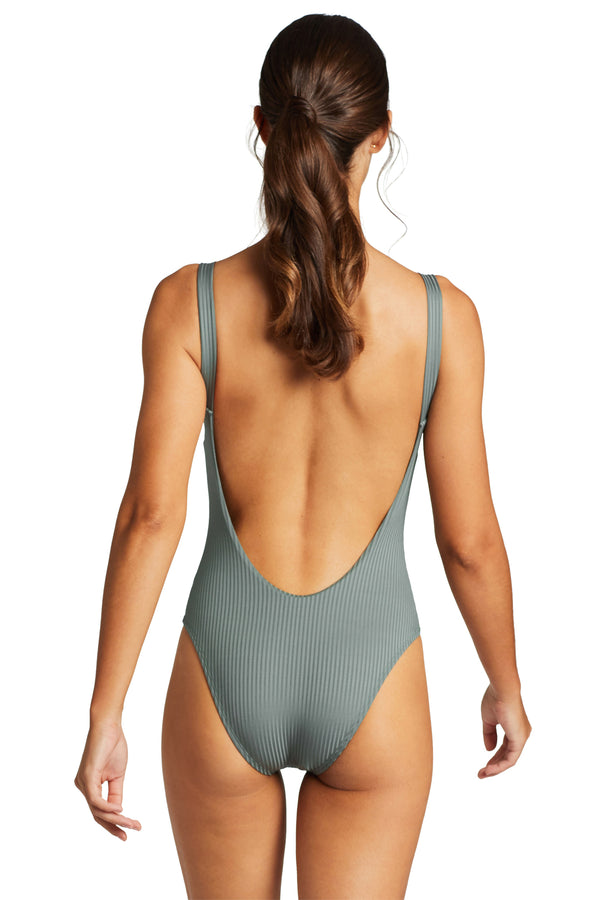 Vitamin A Sea Green EcoRib Leah Bodysuit One Piece