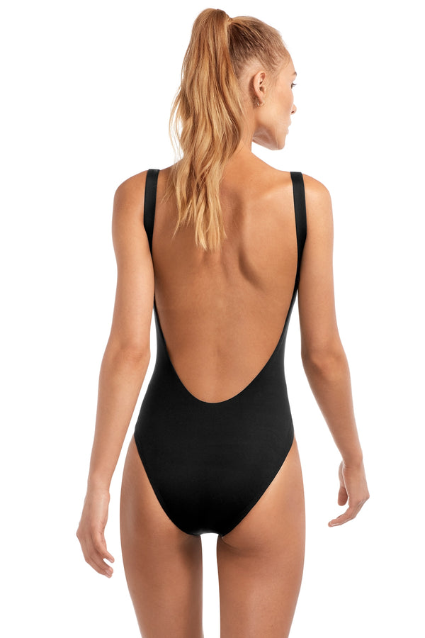 Vitamin A Black EcoLux™ Leah Full Bodysuit One Piece