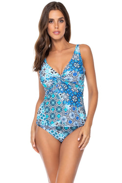 Sunsets Amalfi Coast Forever Underwire D-H Cup Tankini Top