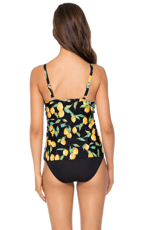 Sunsets Limoncello Forever Underwire D-H Cup Tankini Top