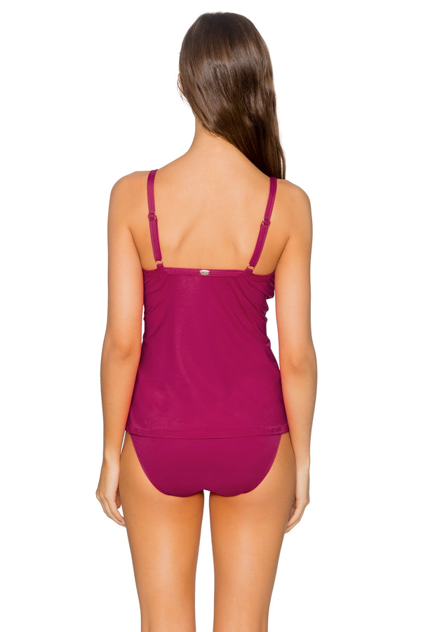 Sunsets Pink Poppy Forever Underwire D-H Cup Tankini Top