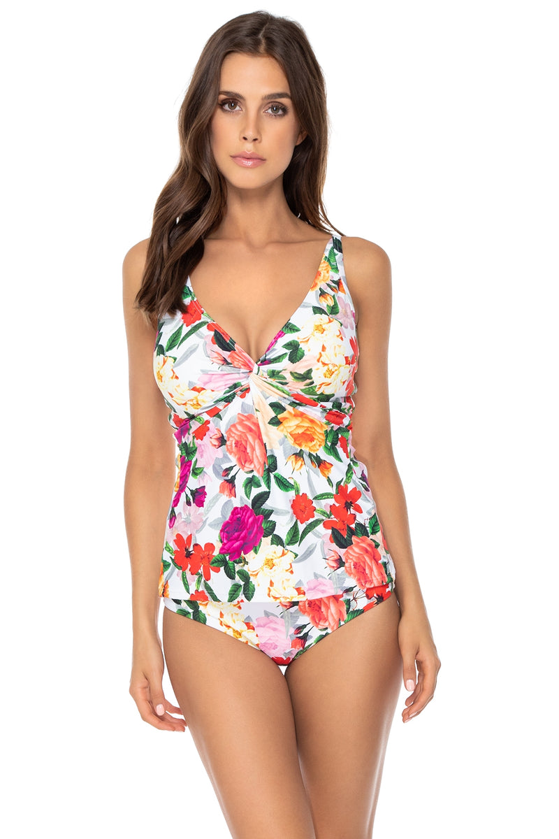 Sunsets Rose Garden Forever Underwire D-H Cup Tankini Top