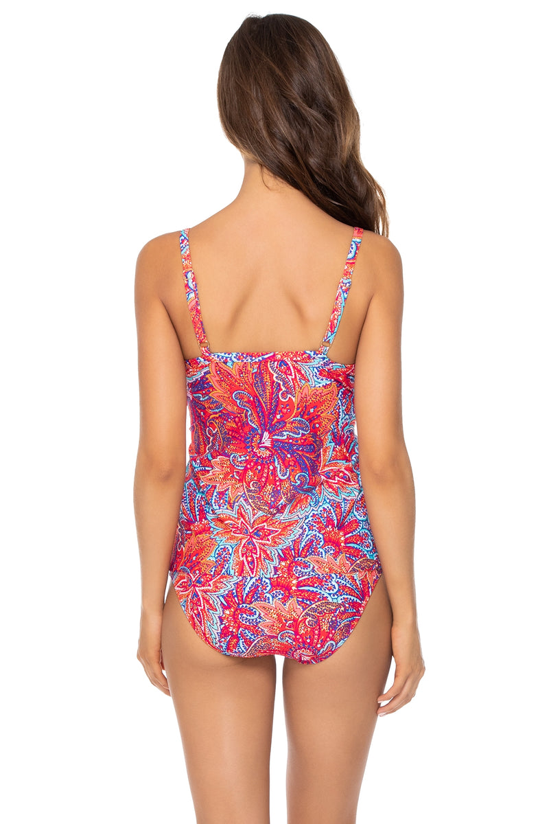 Sunsets Samba Forever Underwire D-H Cup Tankini Top