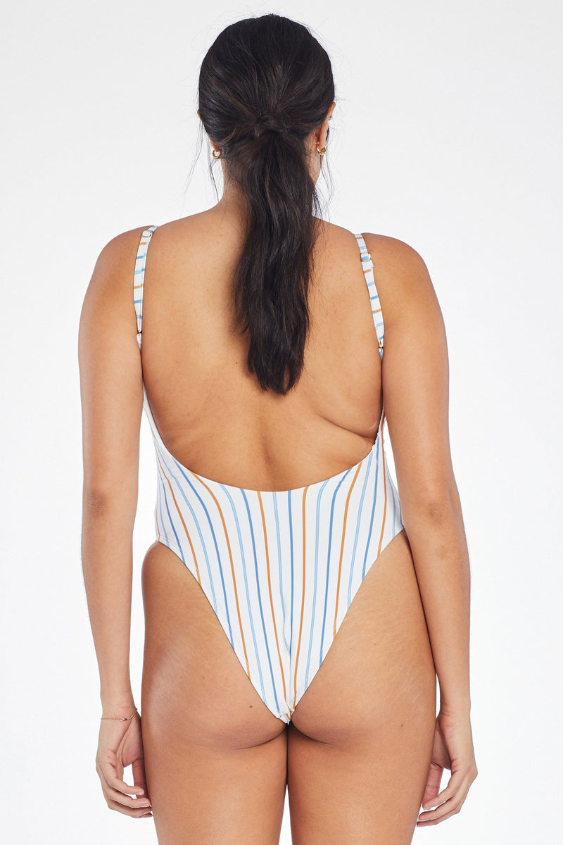 Vitamin A Palm Springs Stripe Yasmeen Bodysuit
