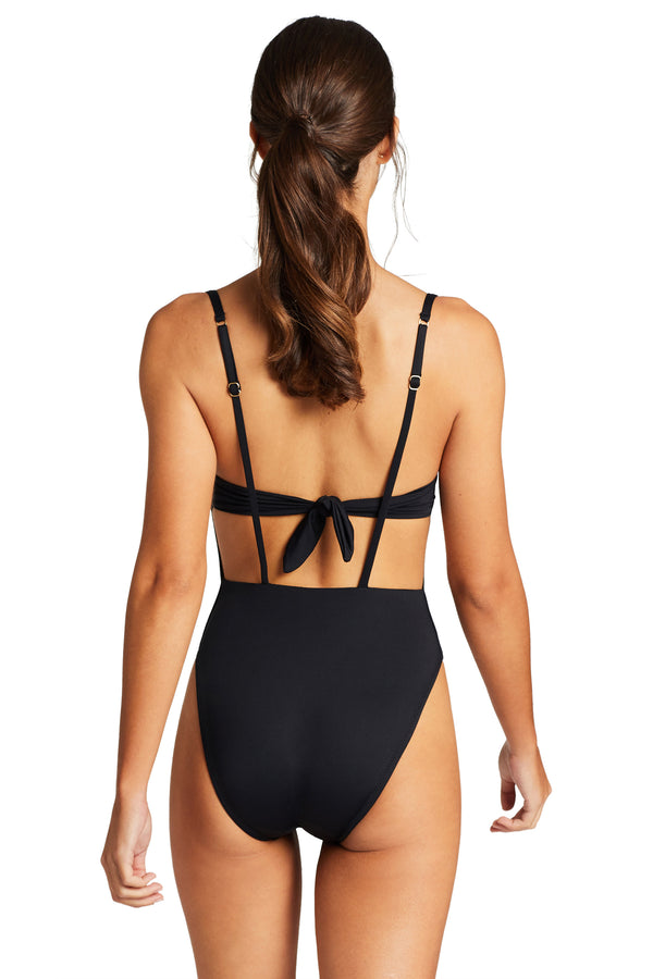 Vitamin A Black EcoLux™ Edie Bodysuit Full Back Coverage