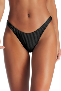 Vitamin A Black EcoRib™ California High Leg Bottom