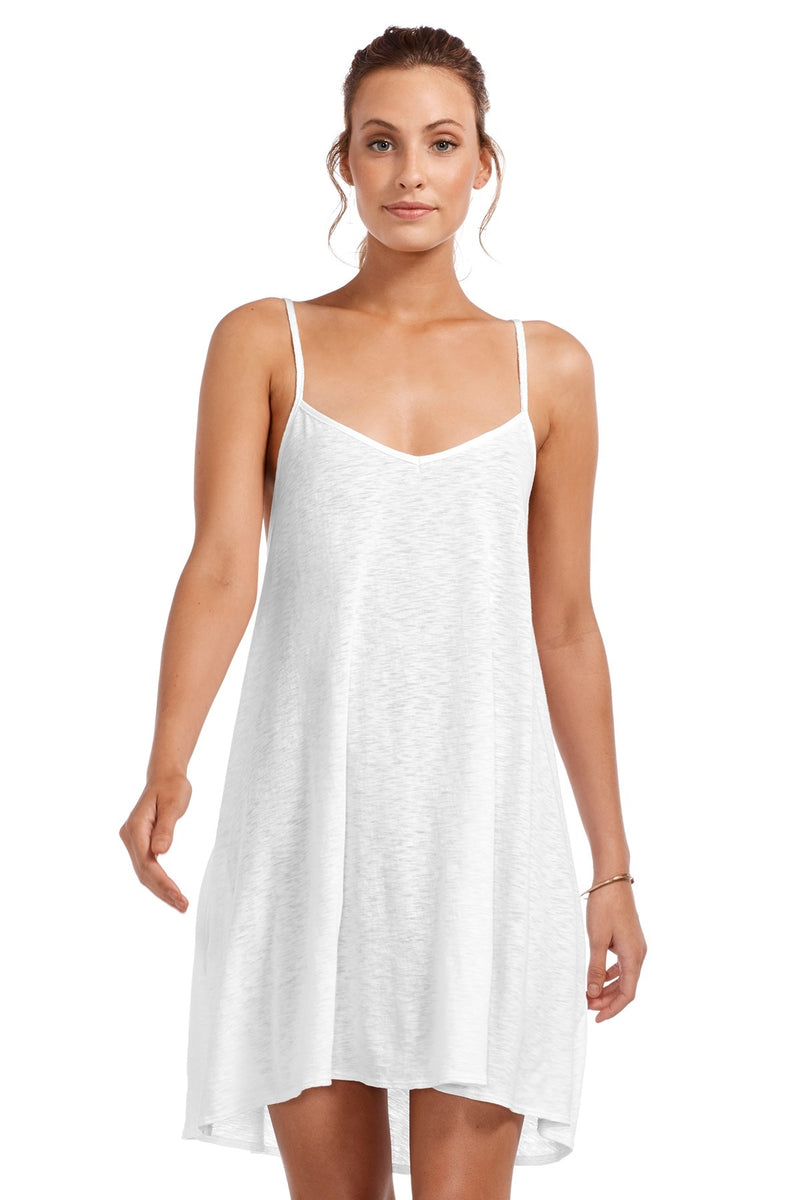 Vitamin A Eco Cotton White Paloma Knit Mini