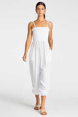 Vitamin A White EcoCotton Moonlight Jumpsuit