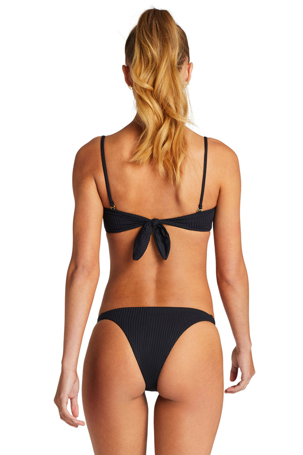 Vitamin A Black EcoRib Carmen Bottom Brazilian Bottom