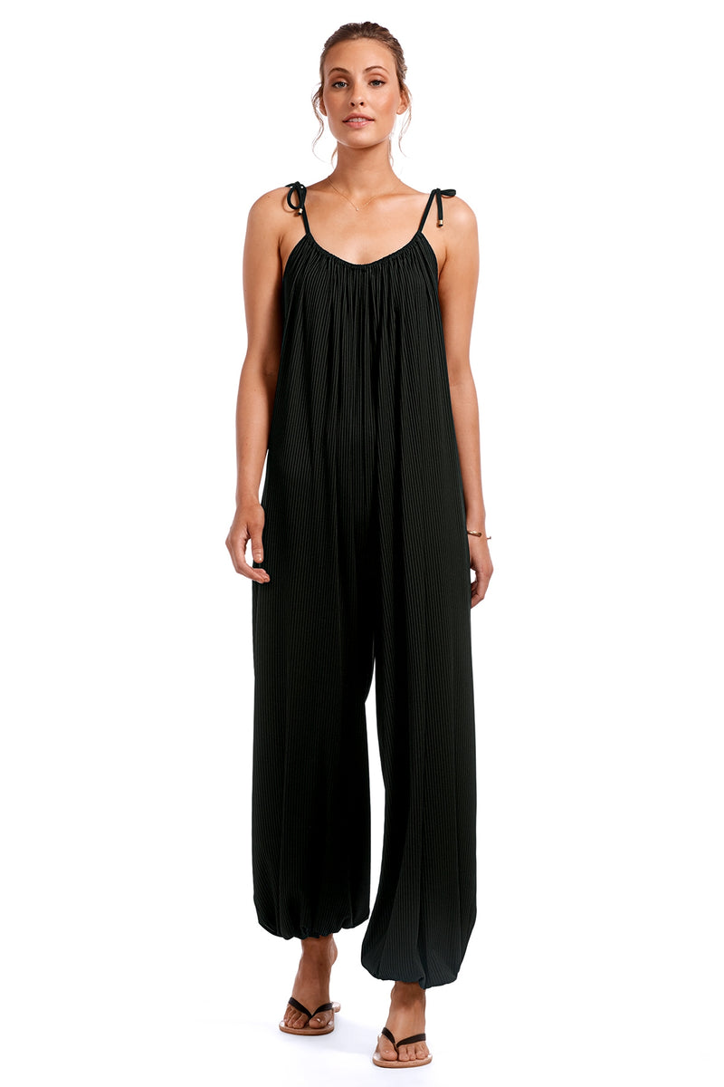 Vitamin A Black EcoRib™ Balloon Rib Jumpsuit