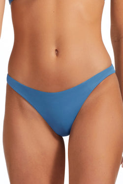 Vitamin A Mediterranean Blue EcoLux Samba Ruched Back Bottom