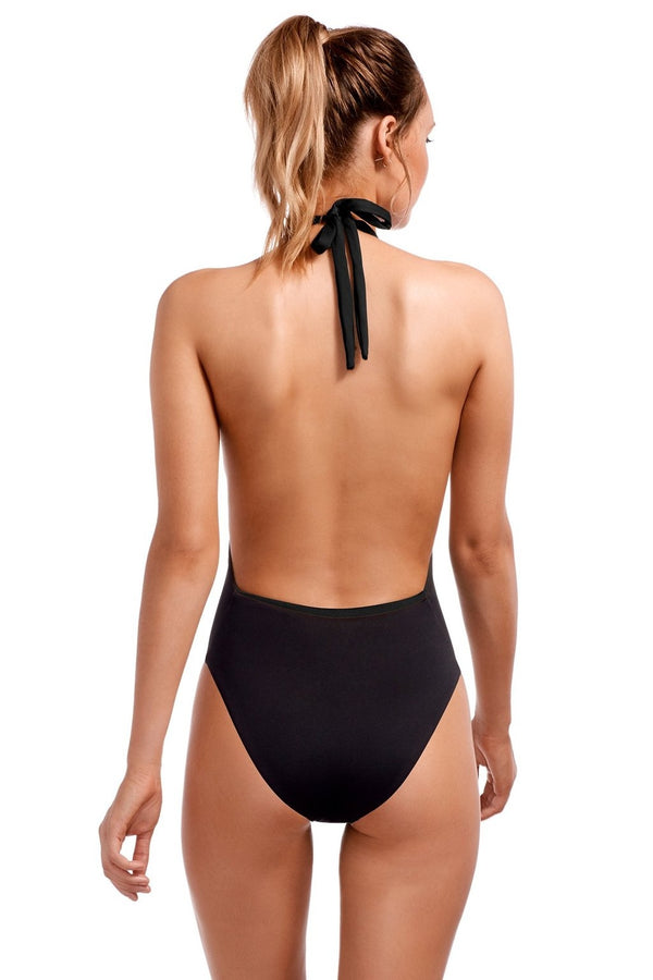 Vitamin A Black EcoLux™ Emma  Full Bodysuit One Piece