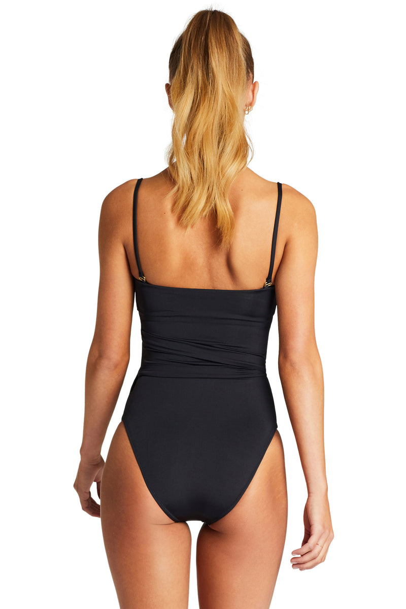 Vitamin A Black EcoLux Marilyn Full Bodysuit One Piece