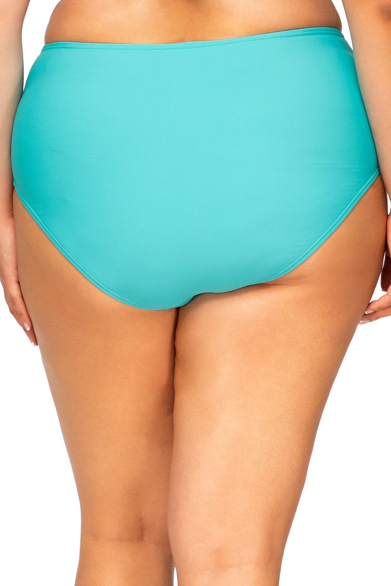 Sunsets Escape Seaside Aqua High Seas High Waist Bottom