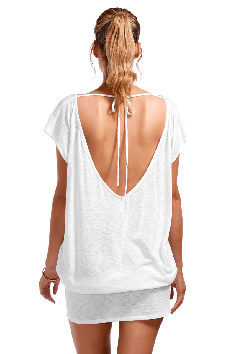 Vitamin A Eco Cotton White Ella Tunic