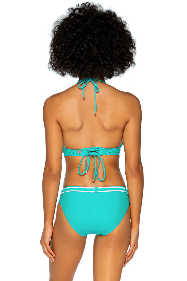 Swim Systems Island Water Zuma Belted Hipster Bottom