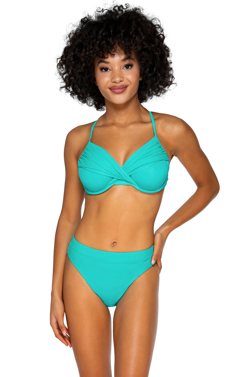 Swim Systems Island Water Crossroads D/DD Cup Underwire Top