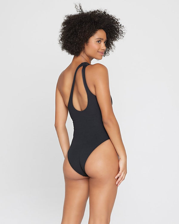 LSpace Black Ribbed Phoebe One Piece Swimsuit