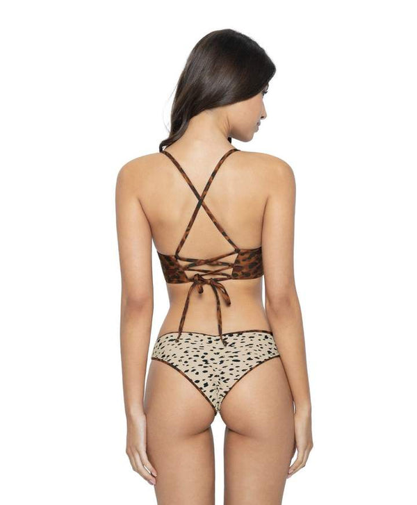 PilyQ Wild Heart Reversible Basic Ruched Bottoms